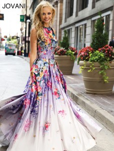 Květinové šaty Jovani 22753