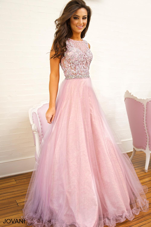 Розовое платье с кружевом в пол