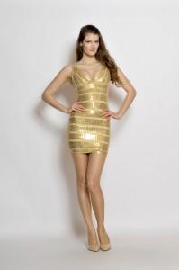 Zeštíhlující bandážové šaty Tejana