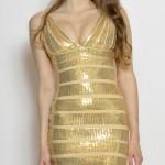 Zeštíhlující bandážové šaty Tejana foto 2