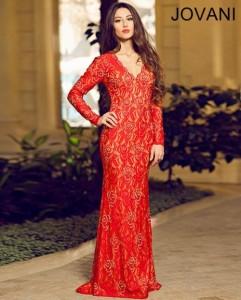 Večerní šaty s dlouhými rukávy Jovani 90708