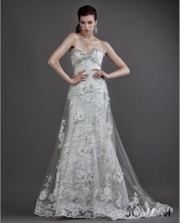 Svatební  šaty  skladem Jovani 2198
